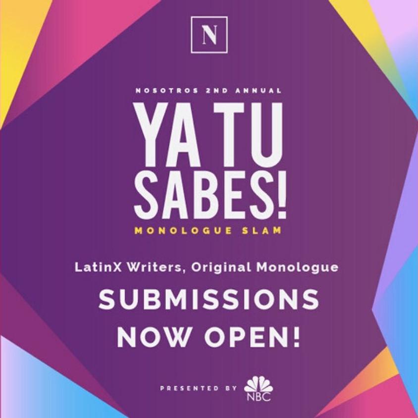 2nd Annual Ya Tu Sabes Monologue Slam presented by NBC