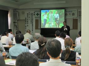報告:上林建設様「心と心の庭作り」登壇