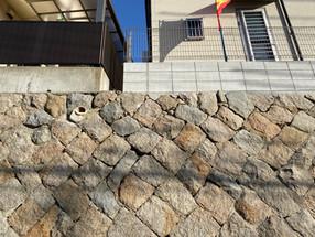 石垣の修復工事