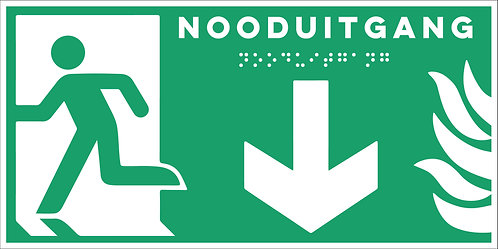 Evacuatie - Nooduitgang onder