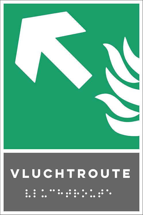 Evacuatie - Vluchtroute links boven
