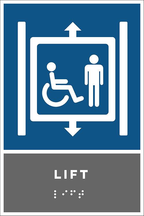 Aanwijzing - Lift (rolstoeltoegankelijk)