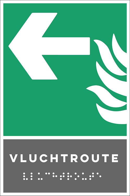 Evacuatie - Vluchtroute links