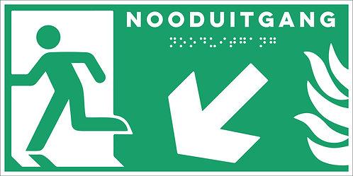 Evacuatie - Nooduitgang links onder