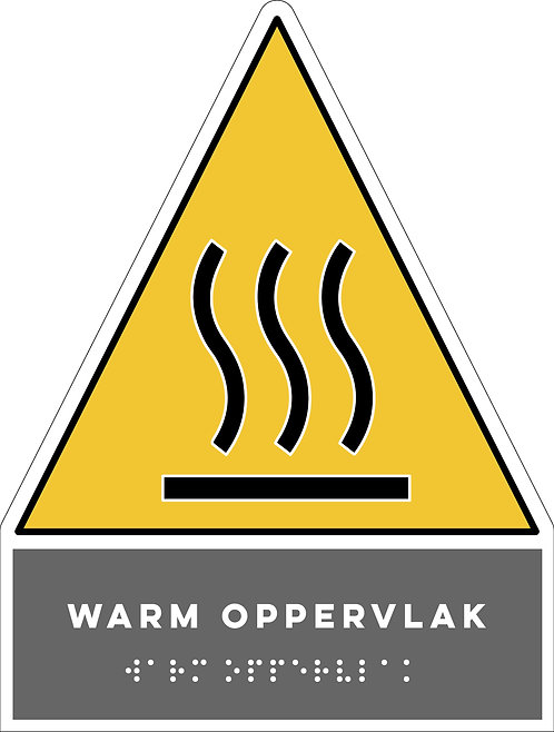 Gevaar - Warm oppervlak