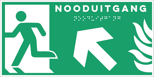 Evacuatie - Nooduitgang links boven