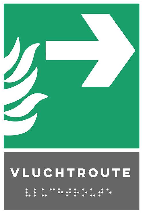 Evacuatie - Vluchtroute rechts