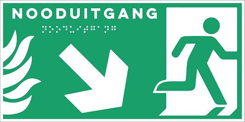 Evacuatie - Nooduitgang rechts onder
