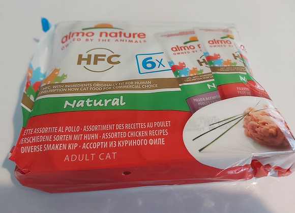 Almo nature HFC multipack 3 saveurs poulet 6x55gr