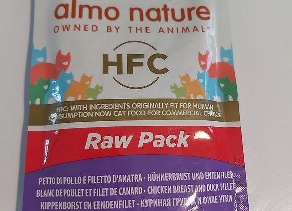 Almo nature HFC blanc de poulet et filet de dinde 55gr