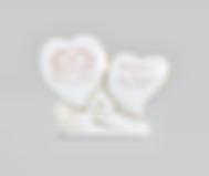 Dois Corações com Pé | Ref.:99-G | Medida: 7,5 cm