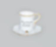 Mini Xícara Reta com Pires | Ref.: 24-G | Medida: 5 cm