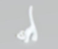 Gato porta anel grande | Ref.: 166 | Medida: 13,5 cm