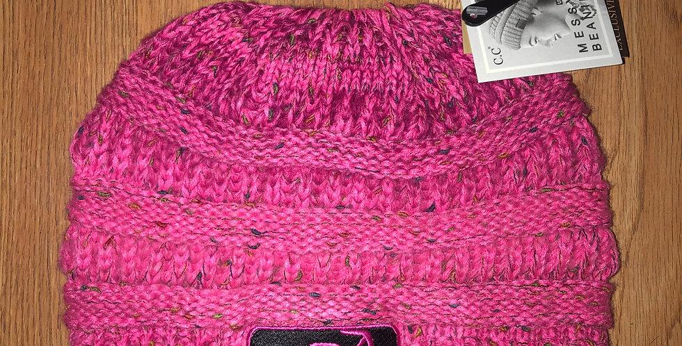 Pink Ponytail Beanie
