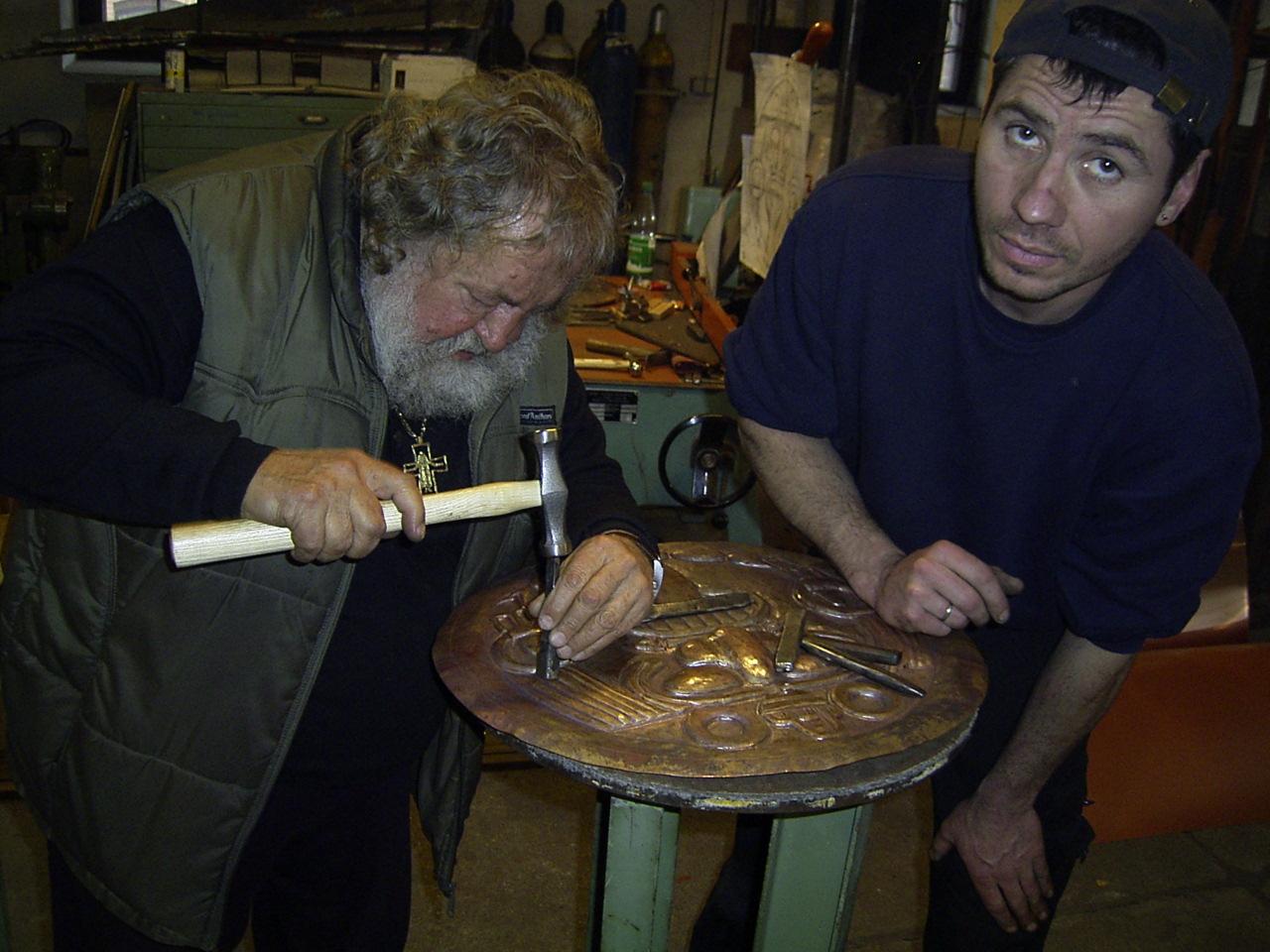 Kupfertreiben mit A. Habermann