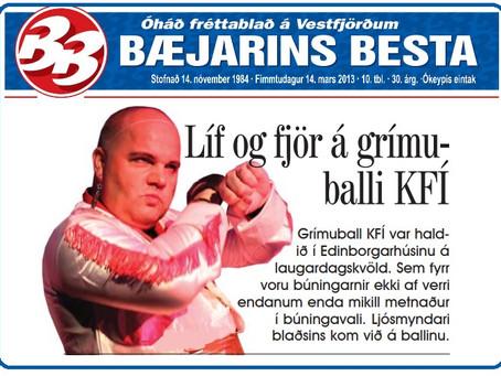 Grímuböll Ísfólksins og KFÍ
