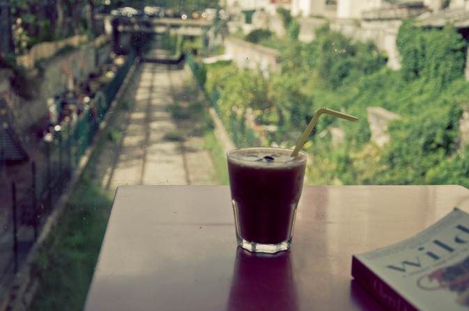 Smoothie... with a view