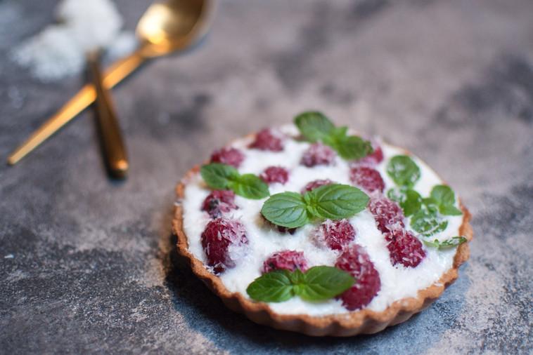 Tartelette framboise/coco