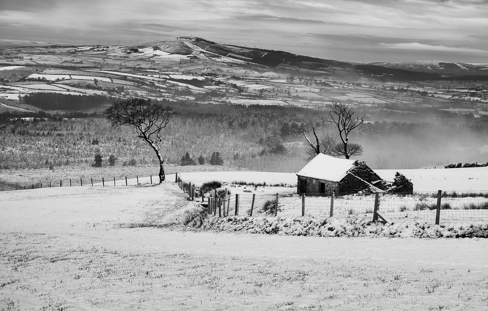 'Legfordrum in winter' by D O Donnell (9 marks)  -  Strabane & District Camera Club