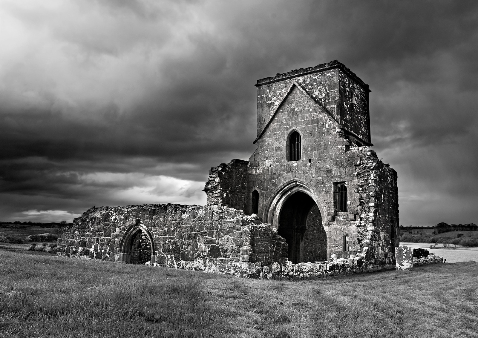 'Monastic Abbey Fermanagh' by David Mathers ( 9 marks )