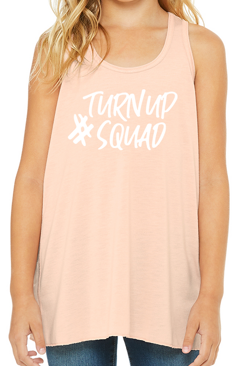 #TurnUpSquad Youth Racer Tank