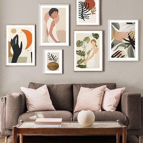 Abstract Modern Girl Artwork