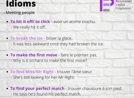 Idioms for meeting people