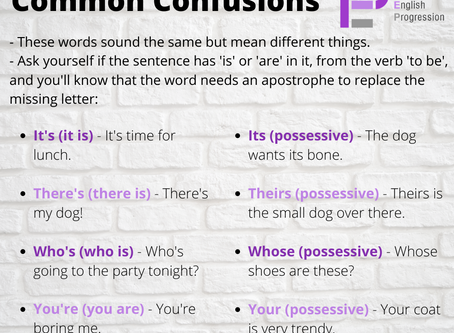 Common Confusions