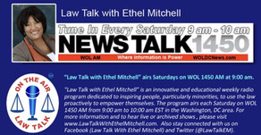 """Catch me on """"Law Talk with Ethel Mitchell"""" – Politics and the Law Series!"""
