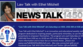 "Catch me on ""Law Talk with Ethel Mitchell"" – Politics and the Law Series!"