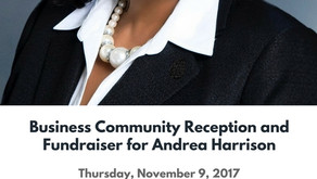 Business Community Reception and Fundraiser – November 9, 2017