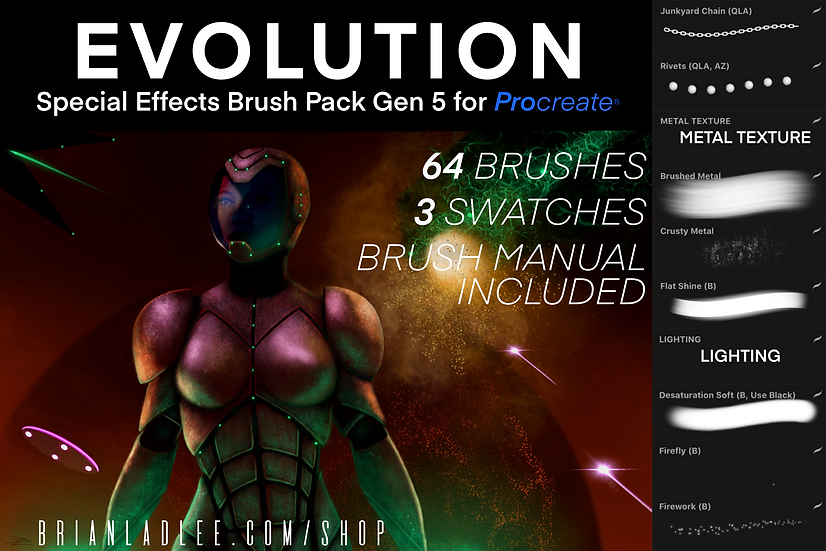 Evolution Brushes© Special Effects Brushes Gen 5 for ProcreateⓇ