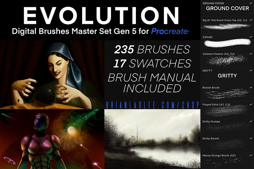 Evolution Brushes© Master Set Gen 5 for Procreate®