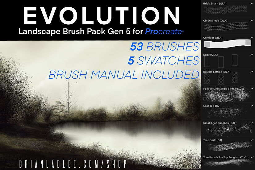 Evolution Brushes© Landscape Brushes Gen 5 for ProcreateⓇ