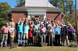 Congregation on front stairs at RHBC