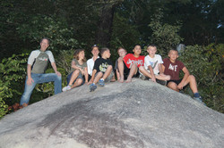 Hanging out on the boulder at RHBC