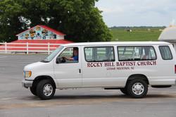 Pastor on field trip in church van
