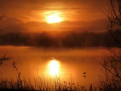 Waterside Manor Sunset Over Lake