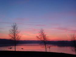 Waterside Manor Sunrise Over Lake