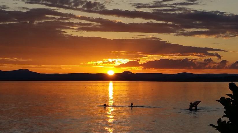 Sonnenuntergang auf der Insel Reichenau