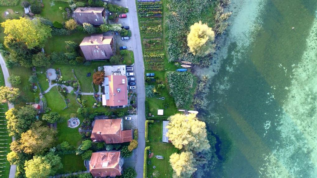 Haus Konrad aus der Luft