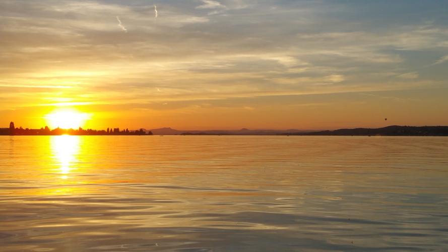 Sonnenuntergang über dem Untersee