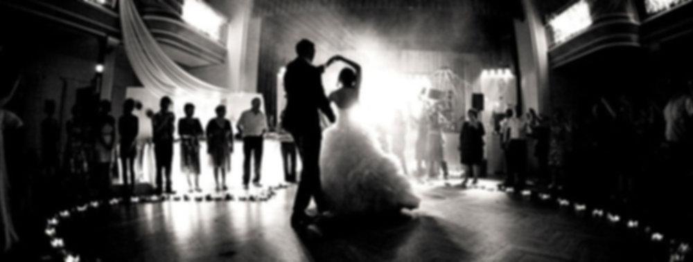 ljud och ljus bröllop