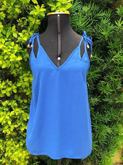 Blusinha de alça azul Antix