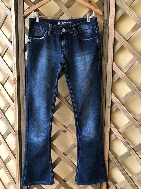 Calça jeans flare basica da John John