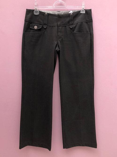 Calça preta c/tecido grosso da Zara Trafaluc