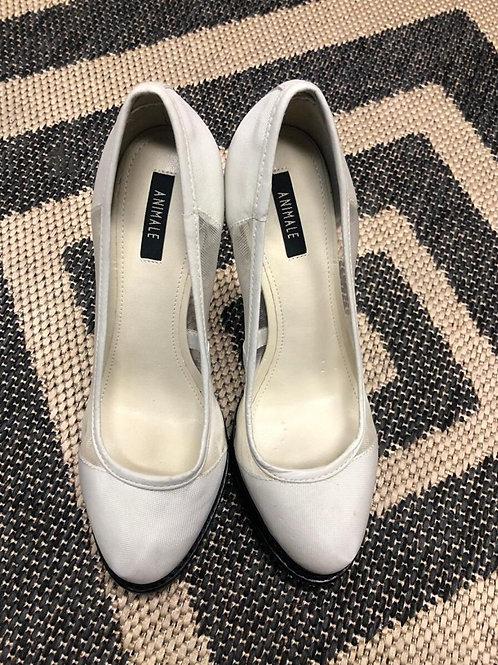 Sapato branco de tela da Animale