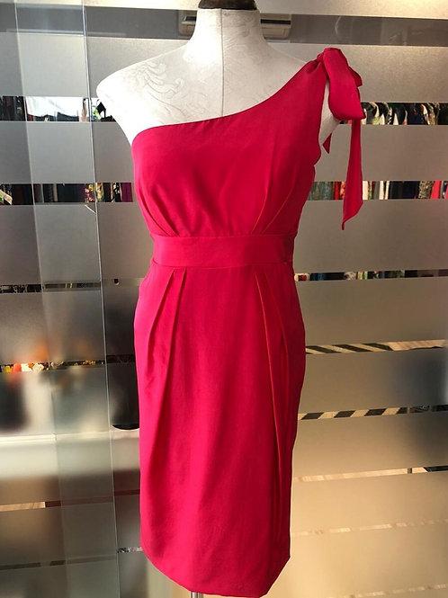 Vestido rosa de seda Carlos Miele