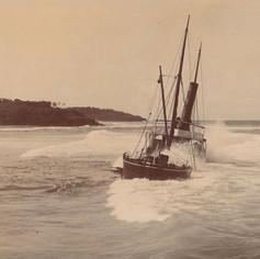 Wreck of S.S. Tomki, 1907, Lighthouse beach, Ballina