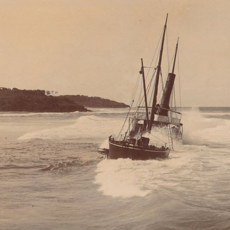 Wreck of S.S. Tomki, 1907, Lighthouse beach, Ballina